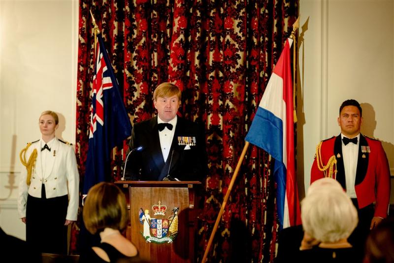 Koning dankt Nieuw-Zeeland voor steun in VN