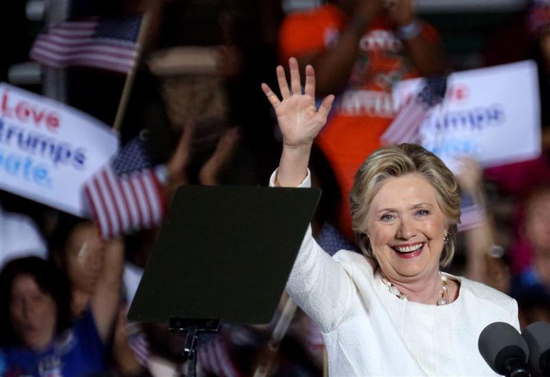 'Clinton heeft 90 procent kans op winst'