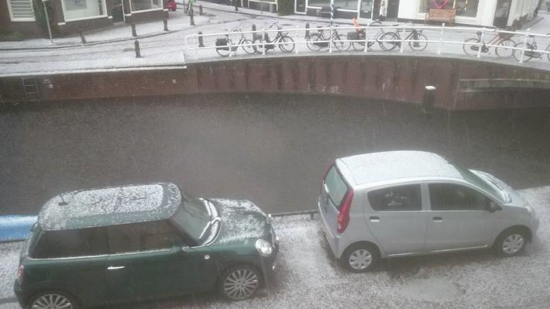 Zware onweersbui in Haarlem (Foto: Stephan5)