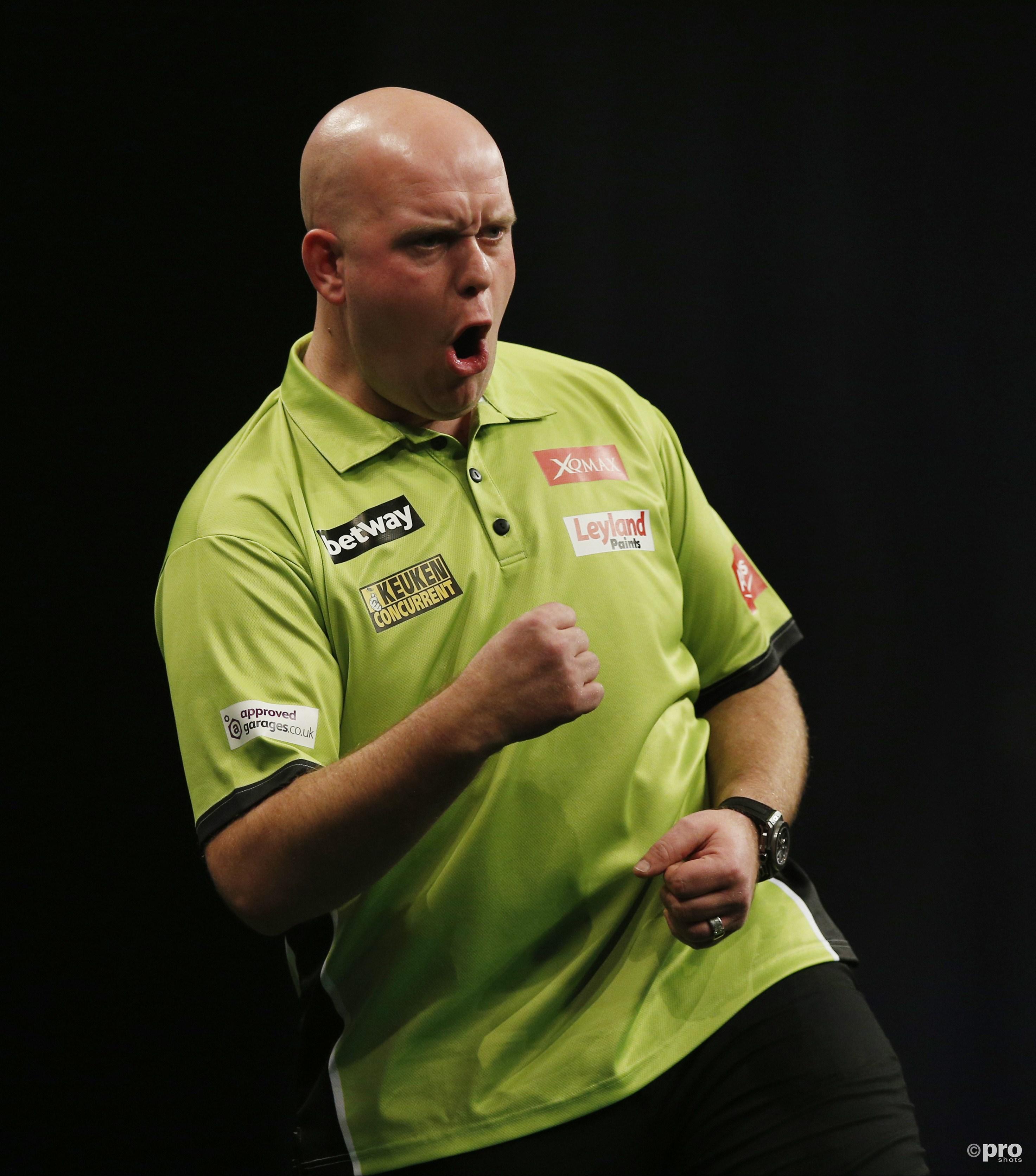 Van Gerwen zegeviert opnieuw op Grand Slam of Darts. (PRO SHOTS/Action Images)