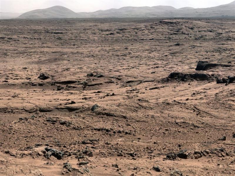 Enorme ondergrondse ijszee op Mars