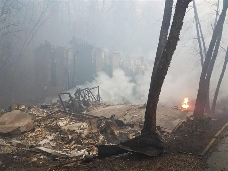 Dodental bosbrand Tennessee stijgt