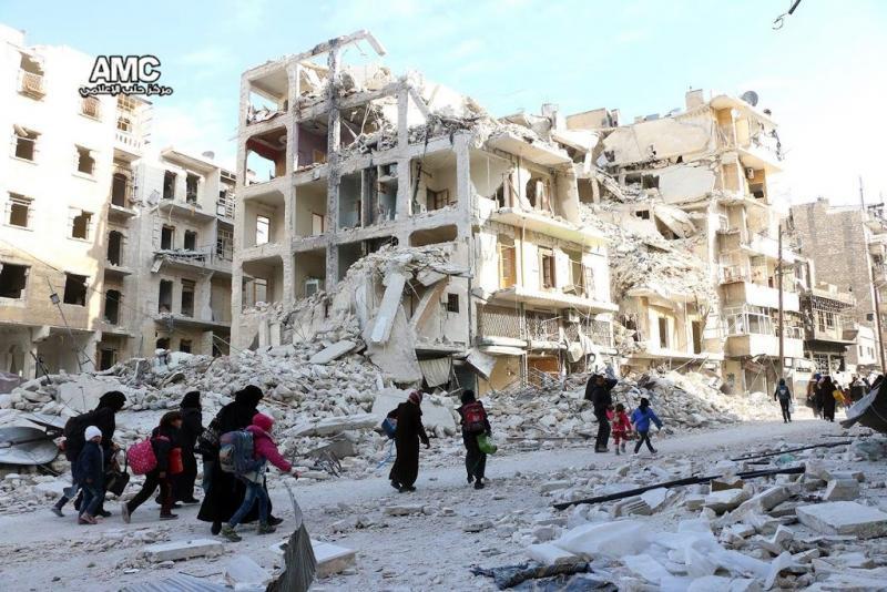 'Rebellen verder teruggedrongen in Aleppo'