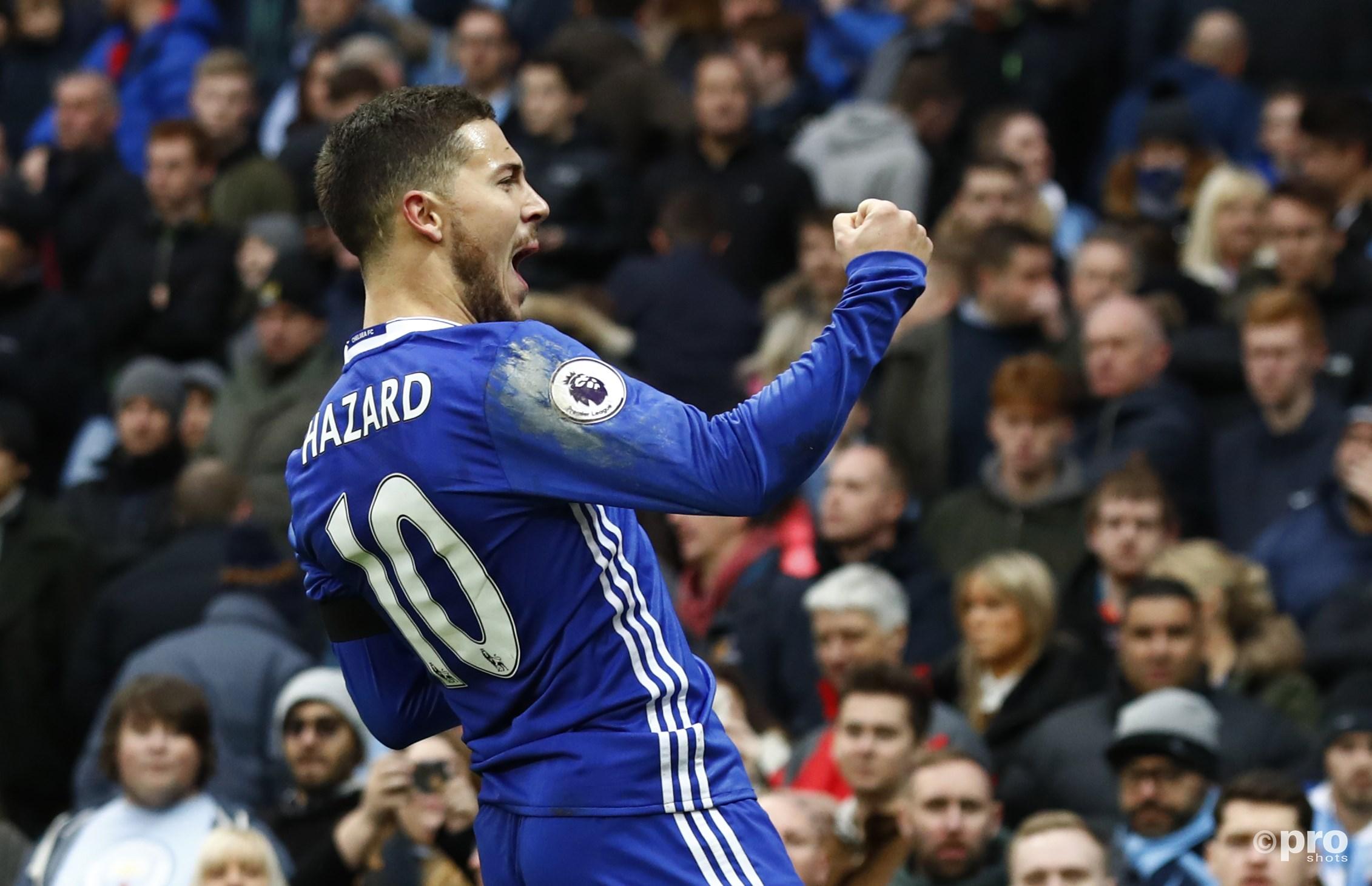 Eden Hazard viert de 1-3. (PRO SHOTS/Action Images)