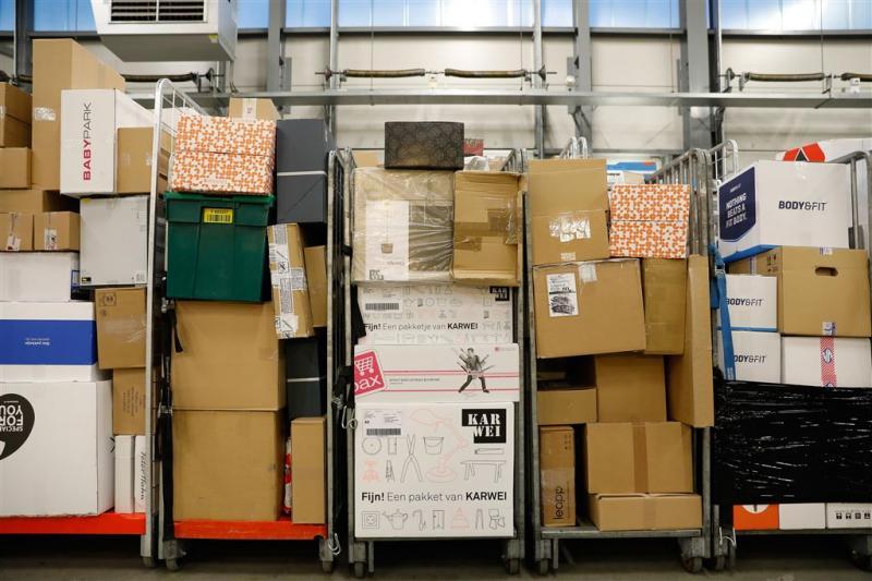 Hoogstens 40.000 pakketten PostNL vertraagd