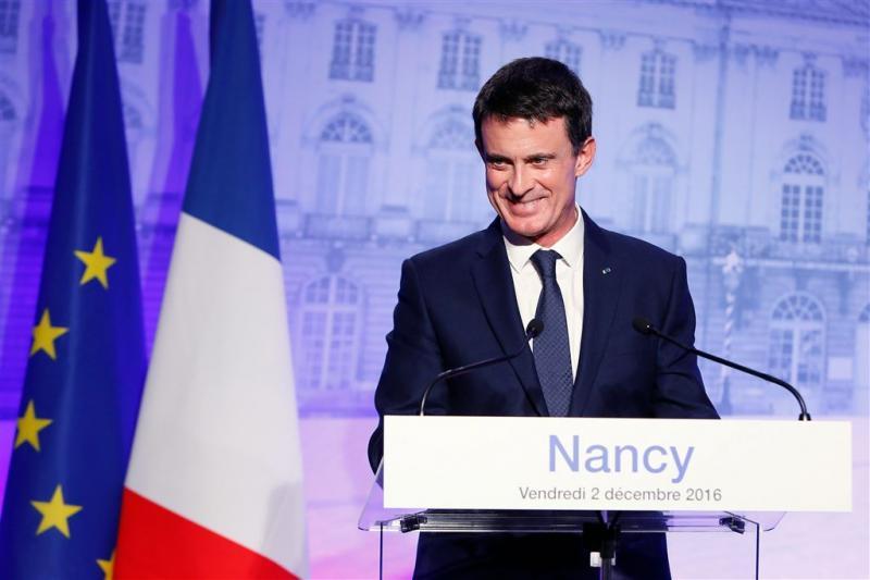 'Premier Valls dingt naar presidentschap'