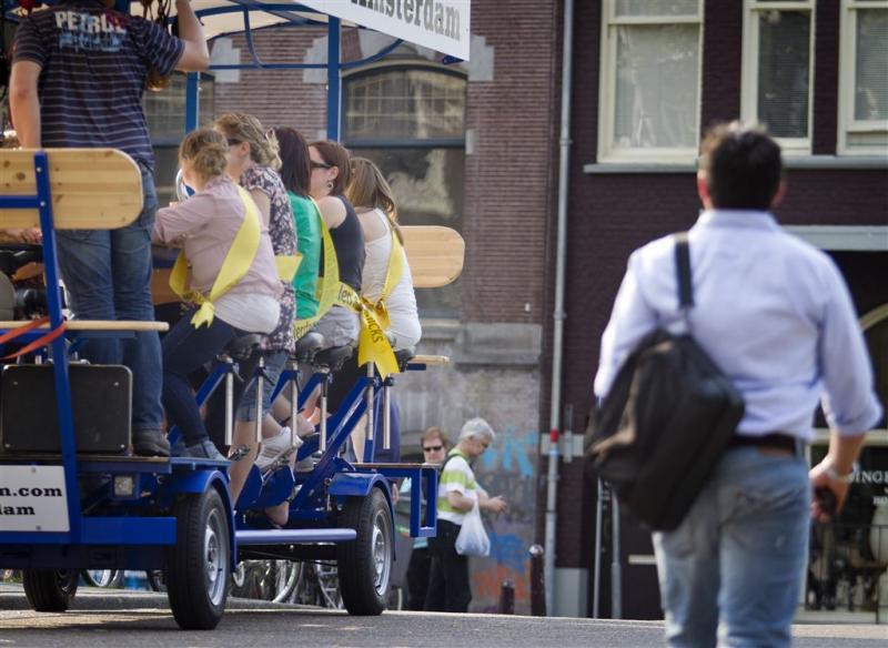 Bierfiets mag blijven in centrum Amsterdam