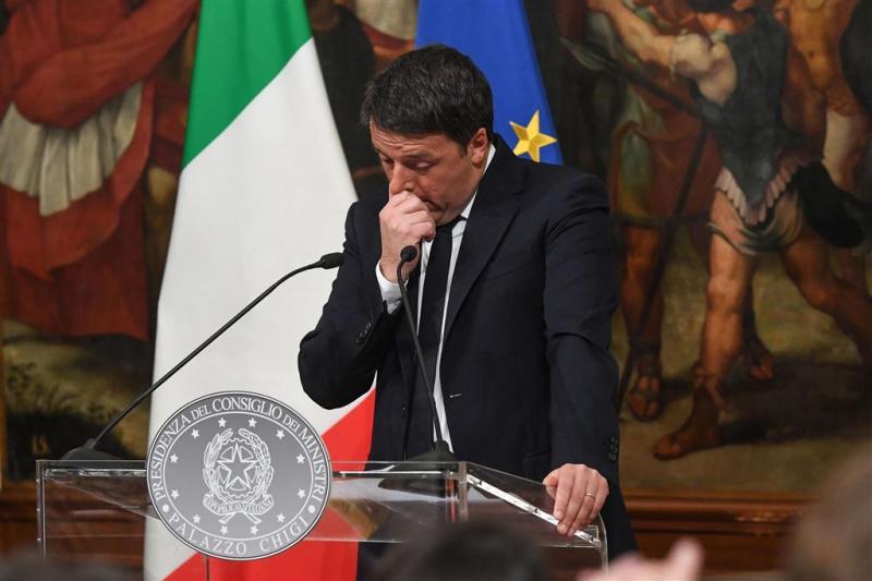 Italiaanse premier Renzi treedt woensdag af