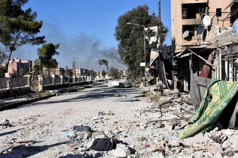 'Oude centrum Aleppo in handen Syrisch leger'