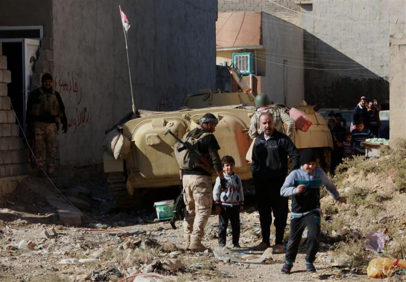 Chaos bij uitdelen voedsel in Mosul