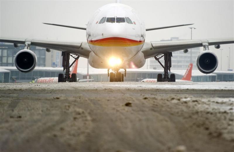 Winters weer hindert vliegverkeer VS