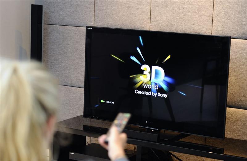 '3D-televisie op zijn retour'