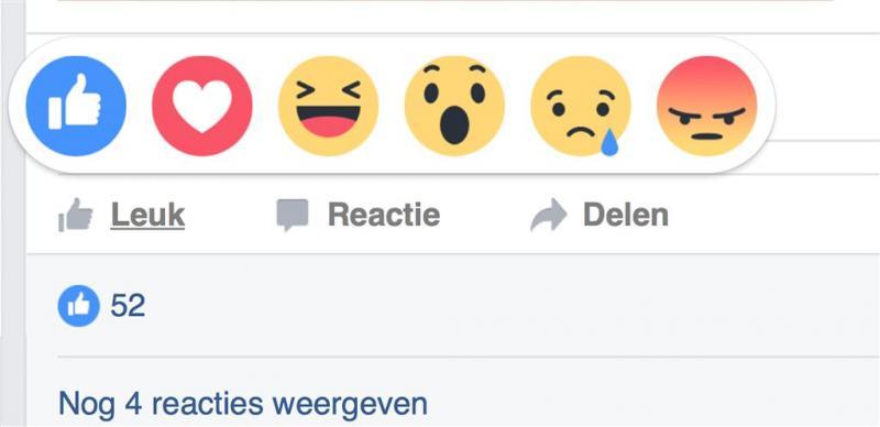 Status op Facebook in kleur