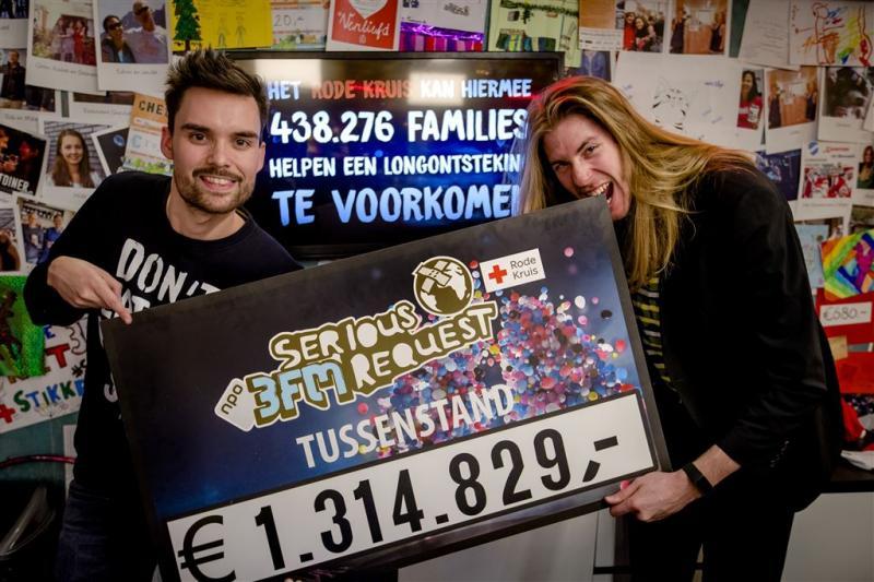 Teller Serious Request op 1,3 miljoen euro
