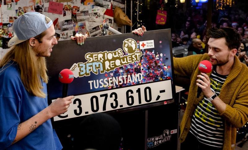 Teller Serious Request op dik 3 miljoen euro