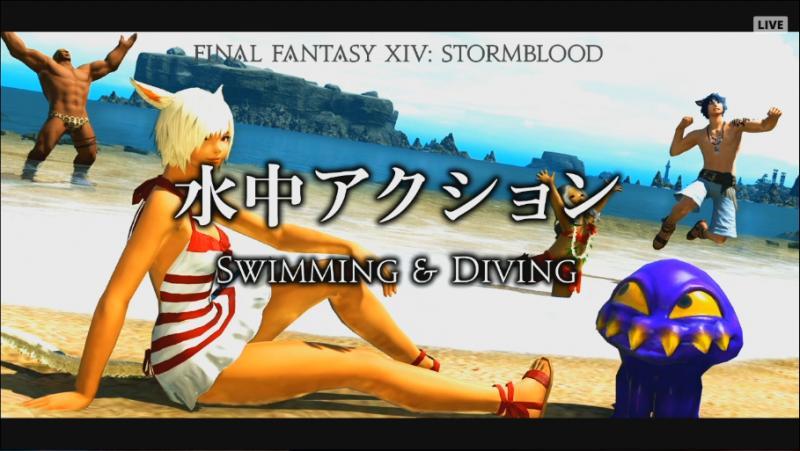 Final Fantasy XIV: Stormblood - Swimming (Foto: Square Enix)