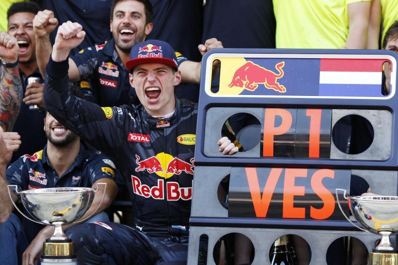 Max Verstappen na zijn overwinning in Spanje (Pro Shots / Zuma Sports Wire)