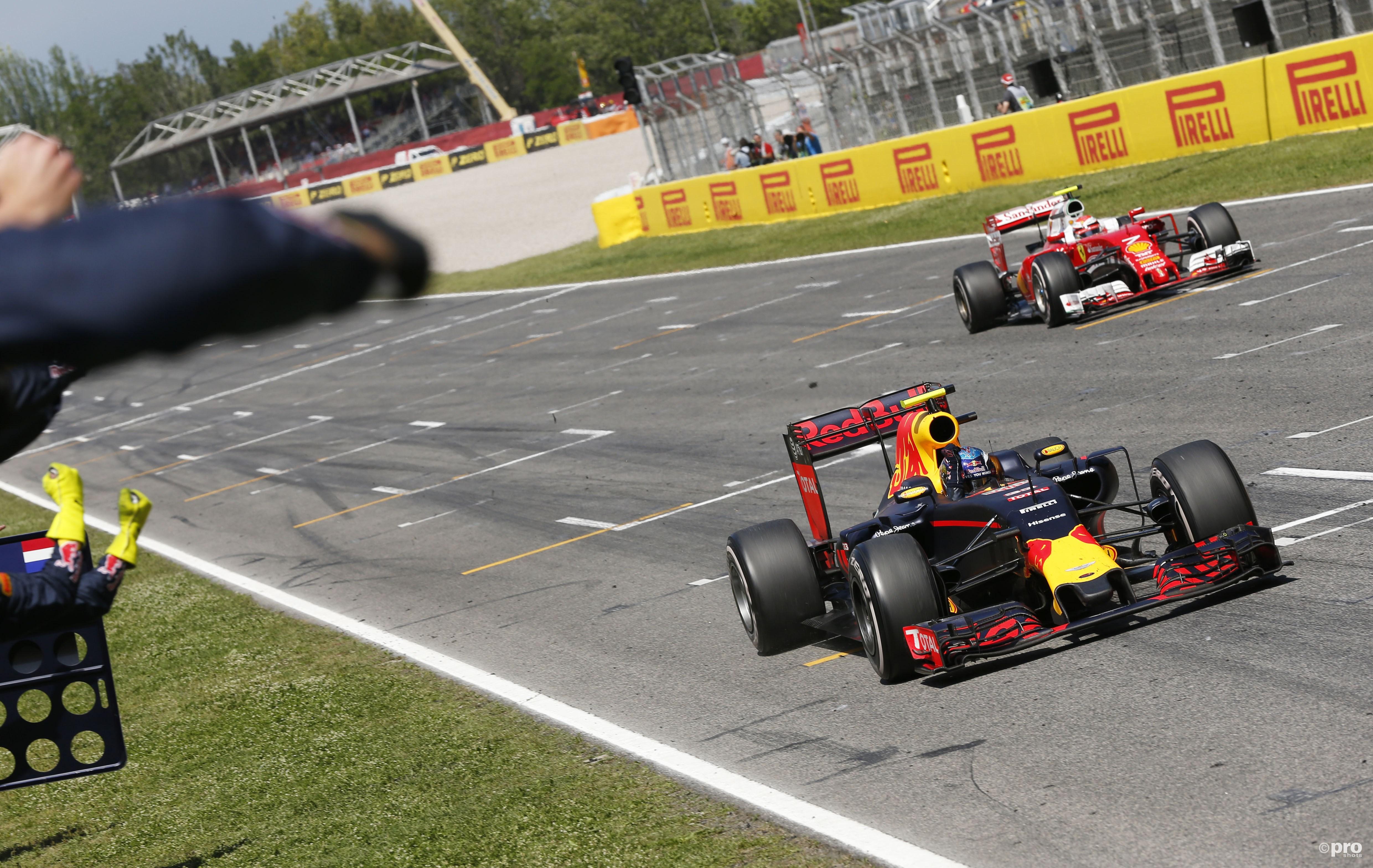 'Wie won de Grand Prix van Spanje?' was helaas geen quizvraag..(PROSHOTS/Zuma Sports Wire)