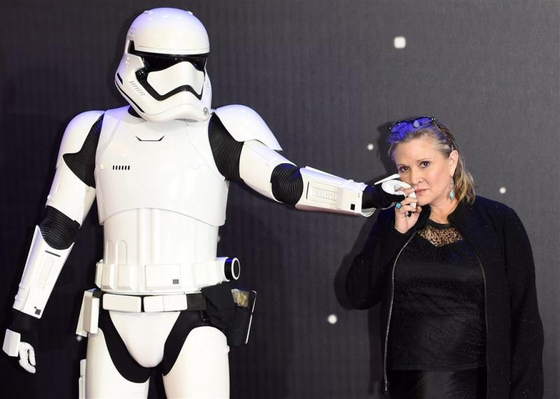 Carrie Fisher te zien in volgende Star Wars