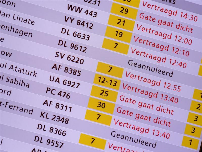 Vluchten geannuleerd wegens mist