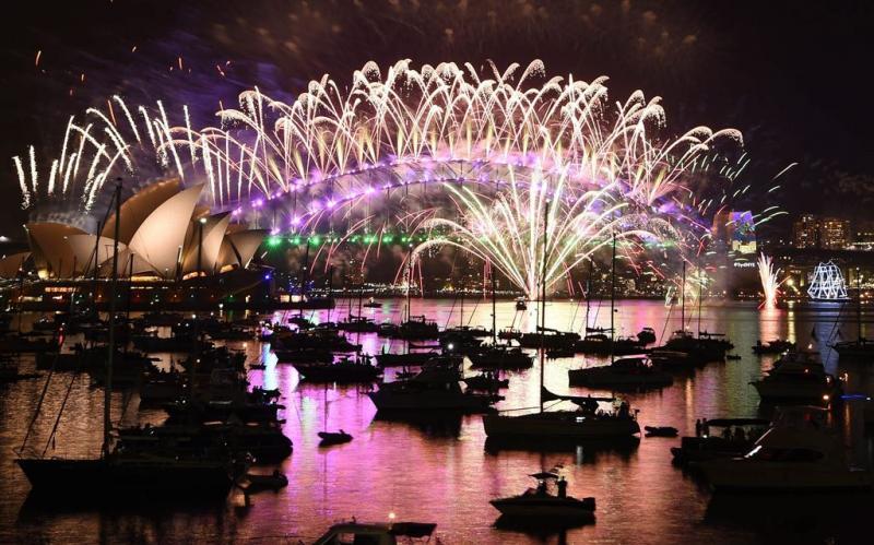 1,5 miljoen mensen Sydney luiden Nieuwjaar in