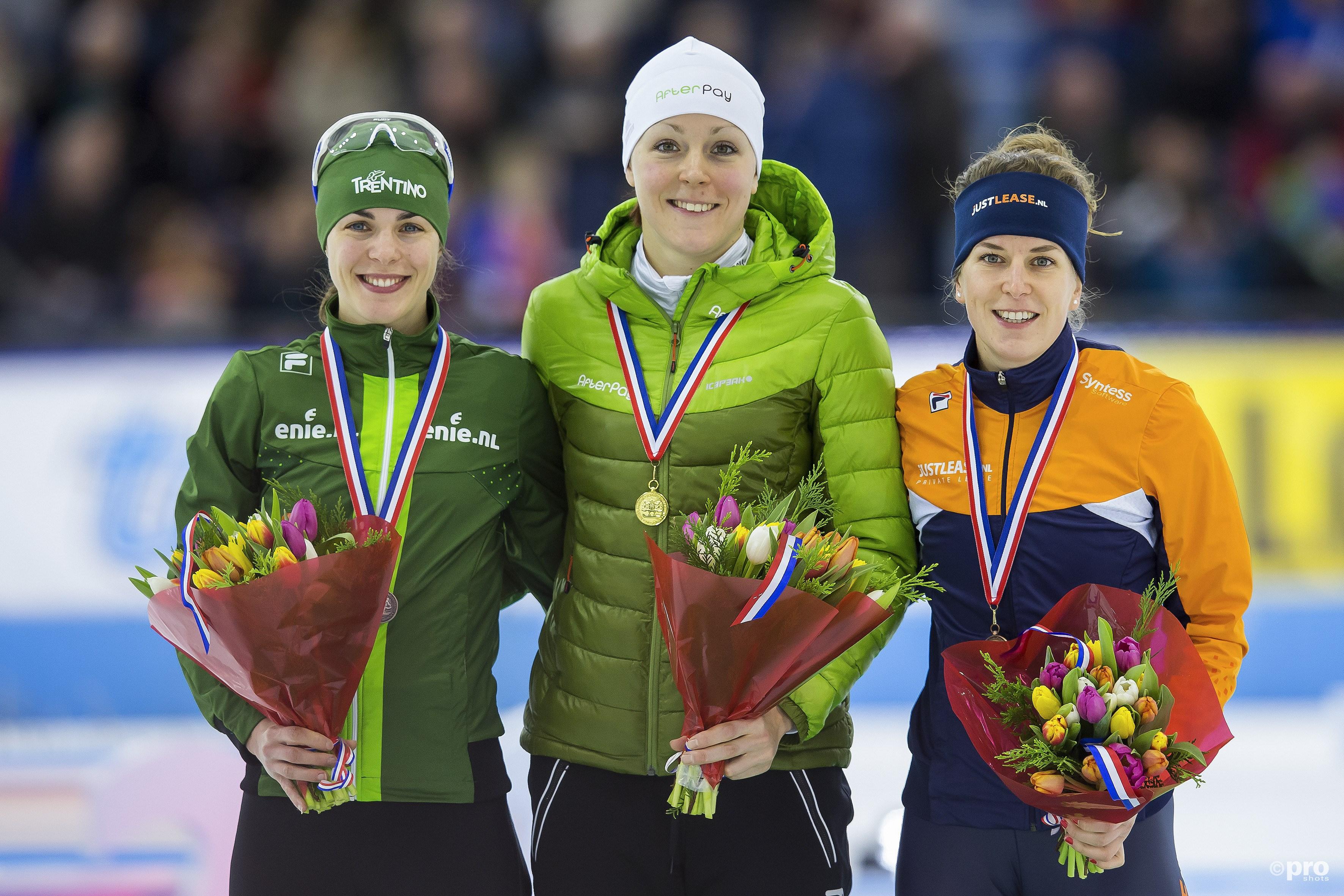 Het podium op de 1000 meter. (PRO Shots/Erik Pasman)