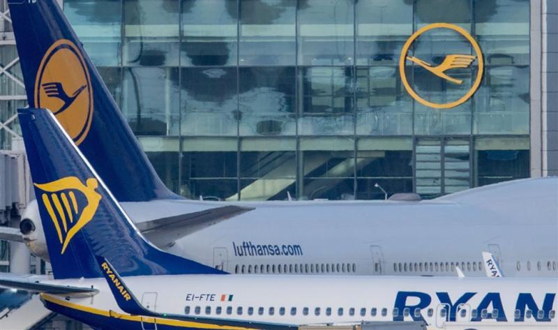 Lufthansa voorbijgestreefd door Ryanair