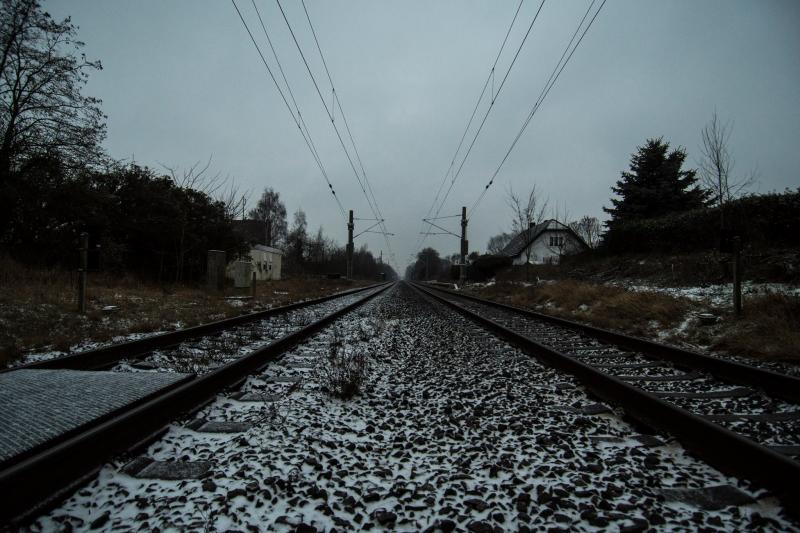 Spoorlijn bij de Duitse grens in de buurt van Elten (Foto: ToT)