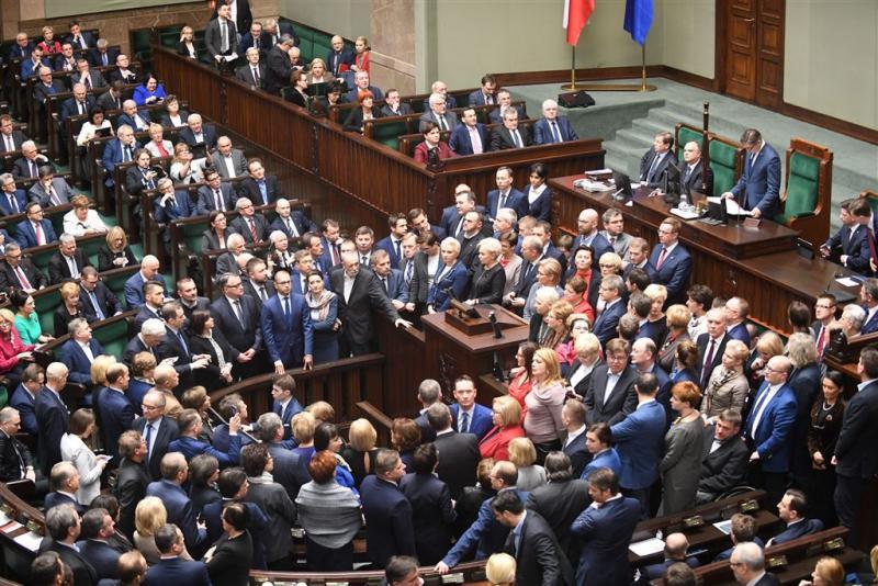 Alle Poolse volksvertegenwoordigers zijn boos