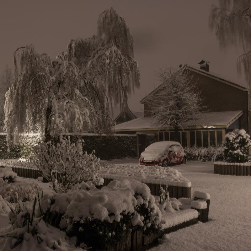 Sneeuw in Twente (Foto: Dennistd)