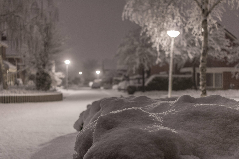 Sneeuw in Twente. Archief-foto van precies een jaar geleden.