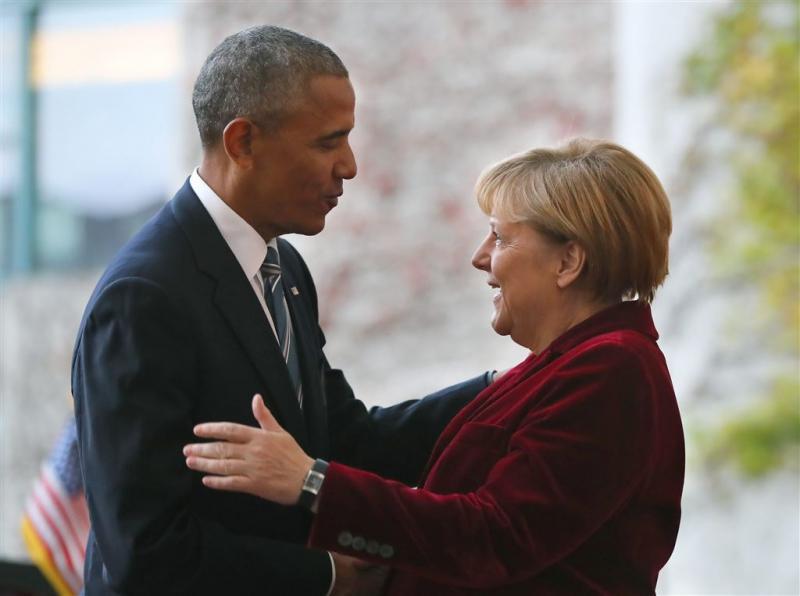Obama neemt afscheid van Merkel