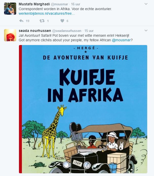 Smerige koloniaal en institutioneel racistsche tweet