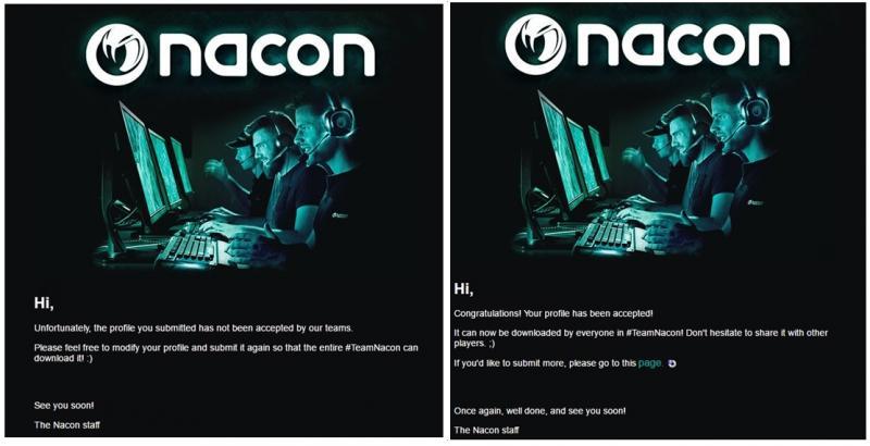 Nacon Alpha Pad - Profielen uploaden