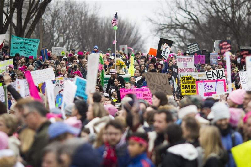 Protest tegen Trump in de VS