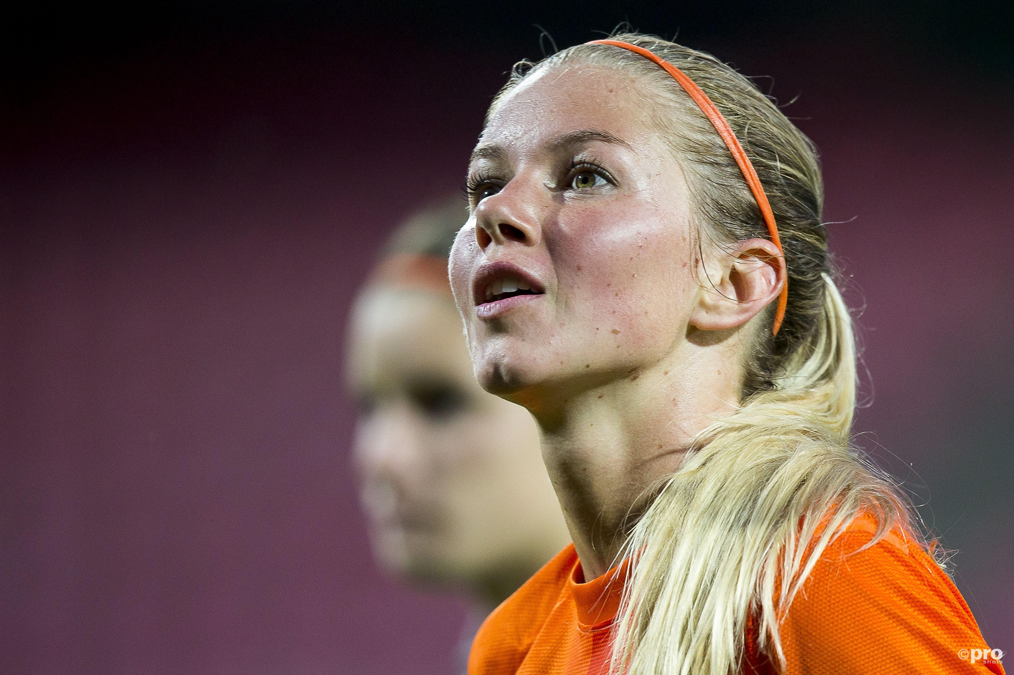 Anouk Hoogendijk stopt na 105 interlands bij Oranje. (PRO SHOTS/Joep Leenen)