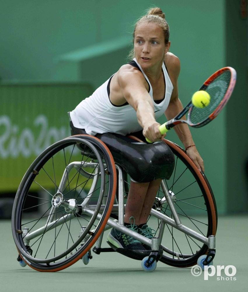 Griffioen sloeg zich vorig jaar nog naar paralympisch goud door Van Koot in de finale te verslaan (Pro Shots/Action Images)