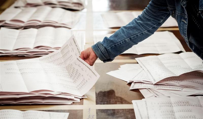 Stemmen optellen uit voorzorg handmatig