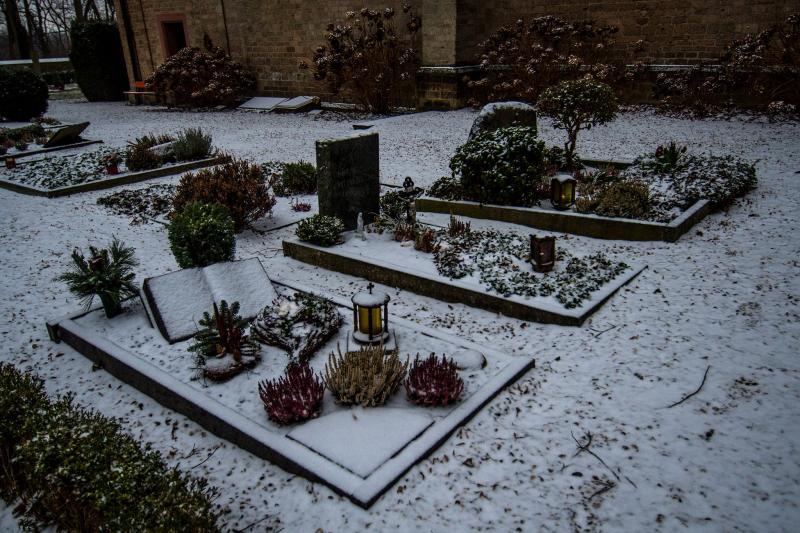 Begraafplaats van Hoog Elten met sneeuw (Foto: ToT)