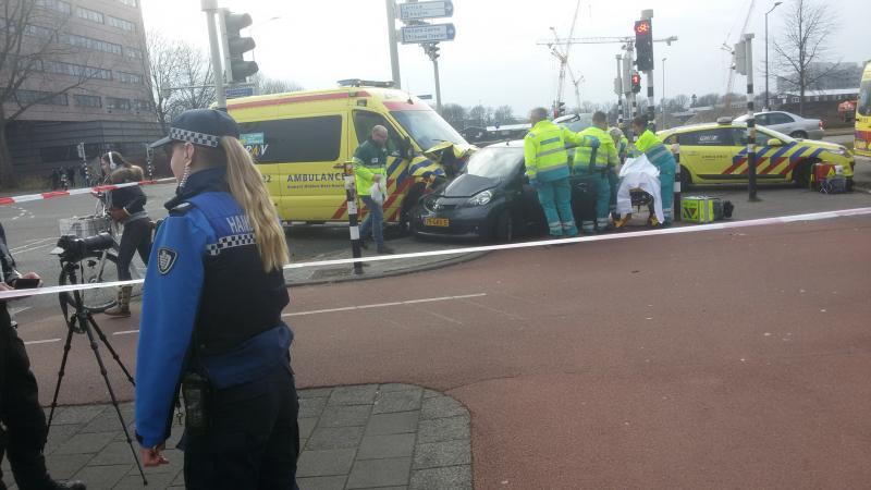 Een onbekende FP-lezer stuurde ons een zelfgemaakte foto van het ongeval. (Foto: Onbekende FOK!ker)