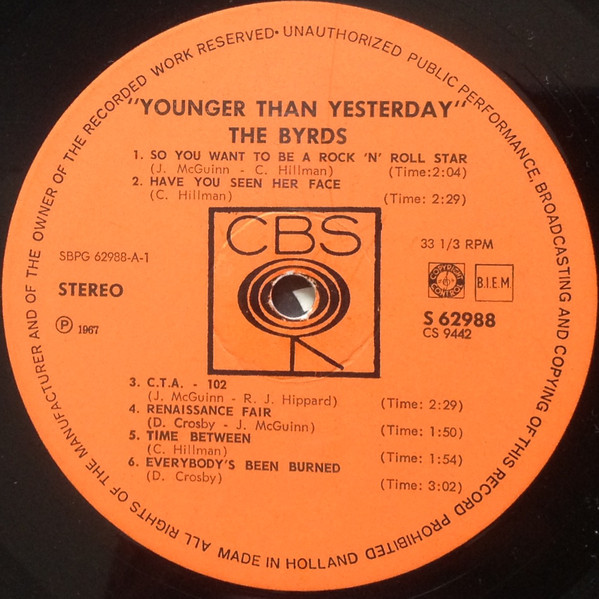 The Byrds - Younger Than Yesterday A