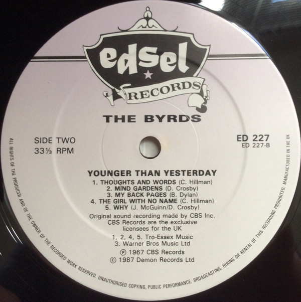 The Byrds - Younger Than Yesterday B