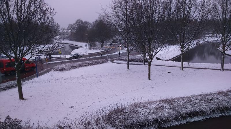 Het uitzicht van Drizzt_DoUrden gisterenmorgen in Borne (Foto: Drizzt_DoUrden)