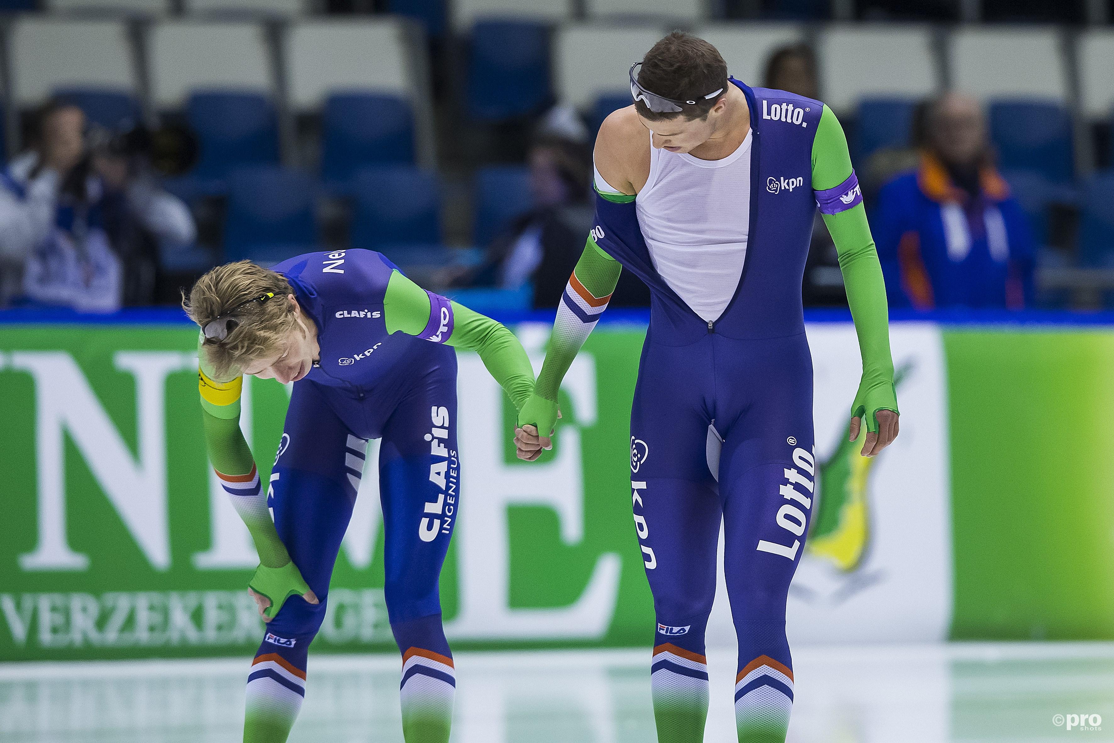 Sven Kramer en Jorrit Bergsma hebben al de nodige onderlinge duels uitgevochten en donderdag is het weer zover (Pro Shots/Erik Pasman)