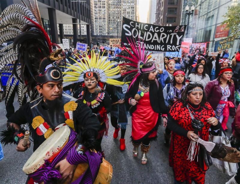 Indianen blijven vechten tegen pijpleiding