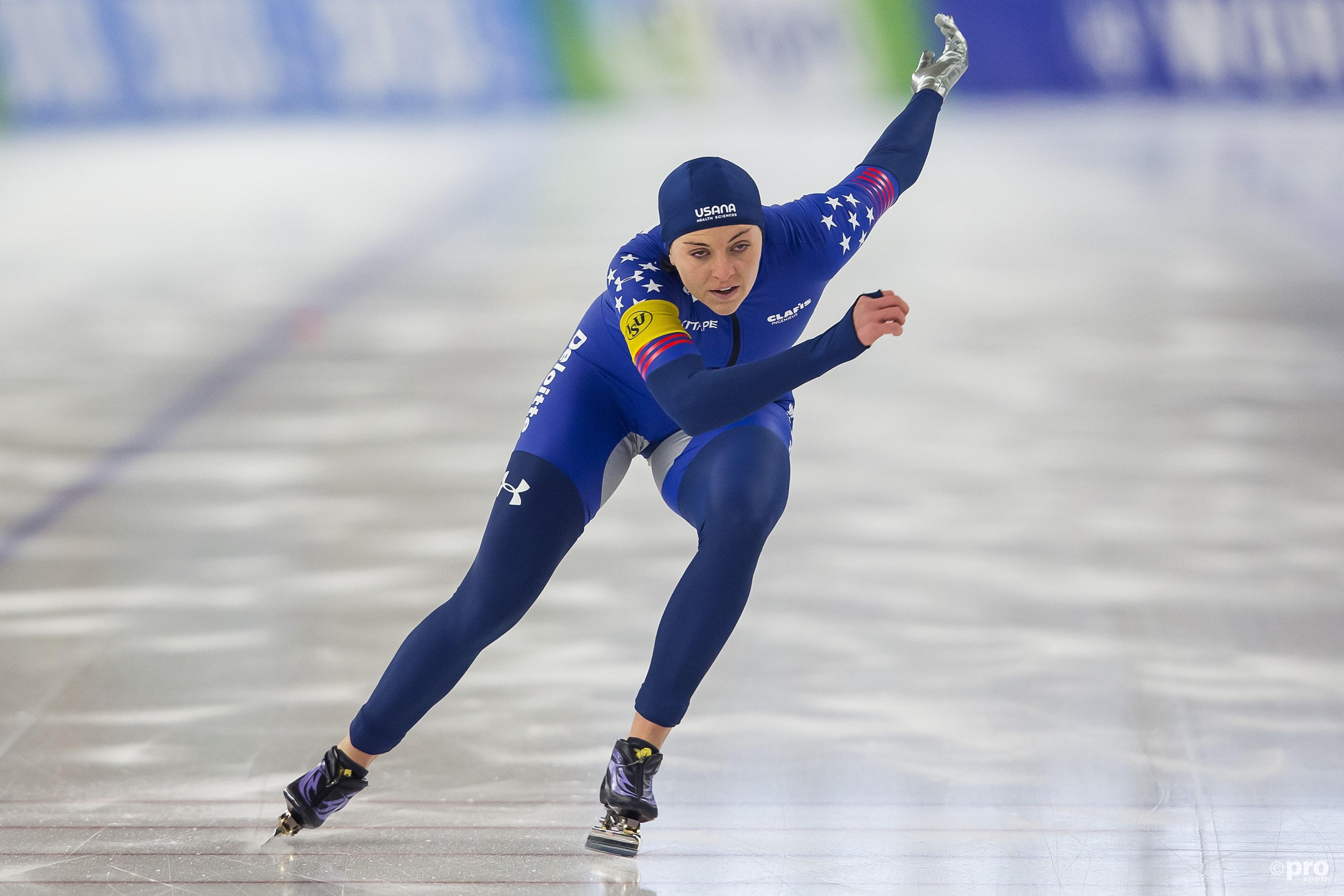 Heather Bergsma lijkt de grote topfavoriete voor het goud op de kilometer (Pro Shots/Erik Pasman)