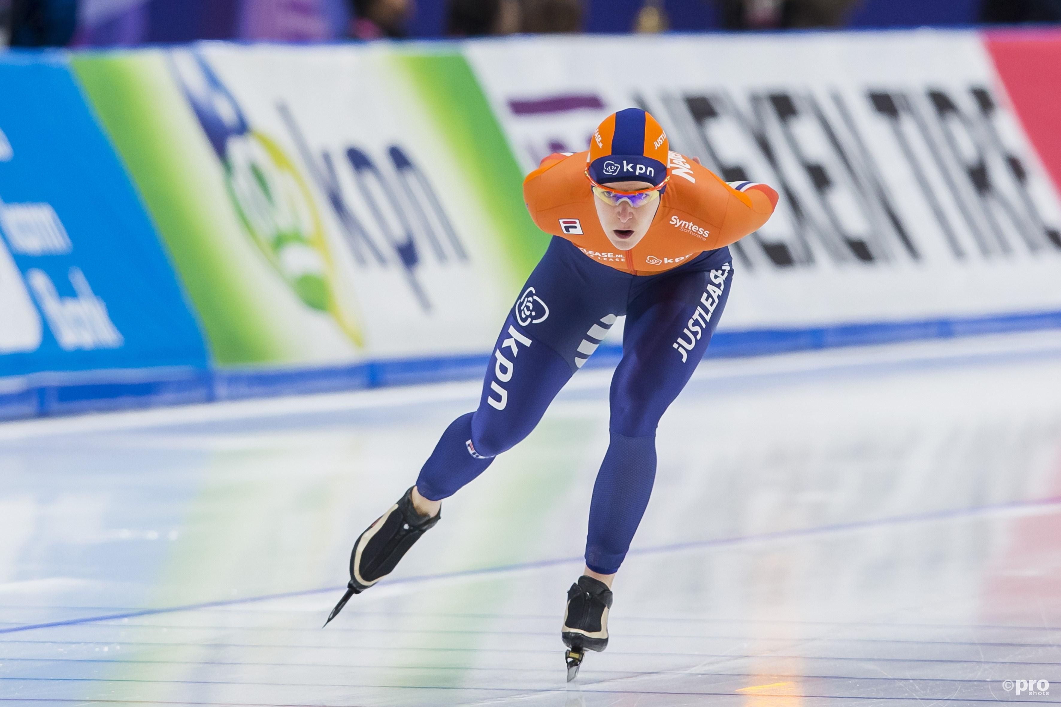 Ireen Wüst heeft op de drie kilometer en ploegenachtervolging al goud te pakken (Pro Shots/Erik Pasman)