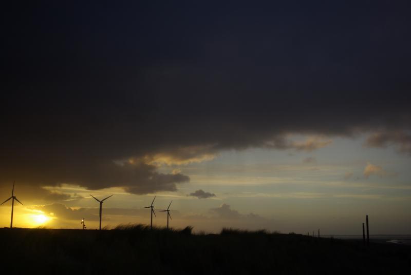 Bewolkte windmolens (Foto: Disbatch)