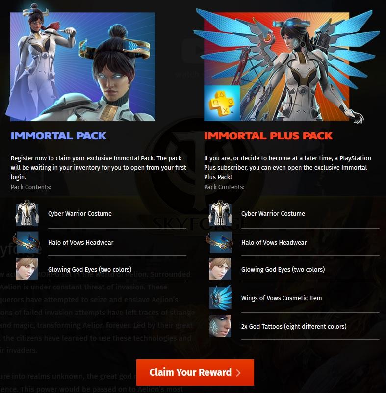 Skyforge - PS4 bonus