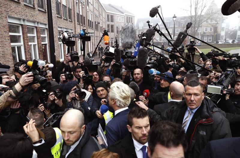 Wilders trapt campagne af in Spijkenisse